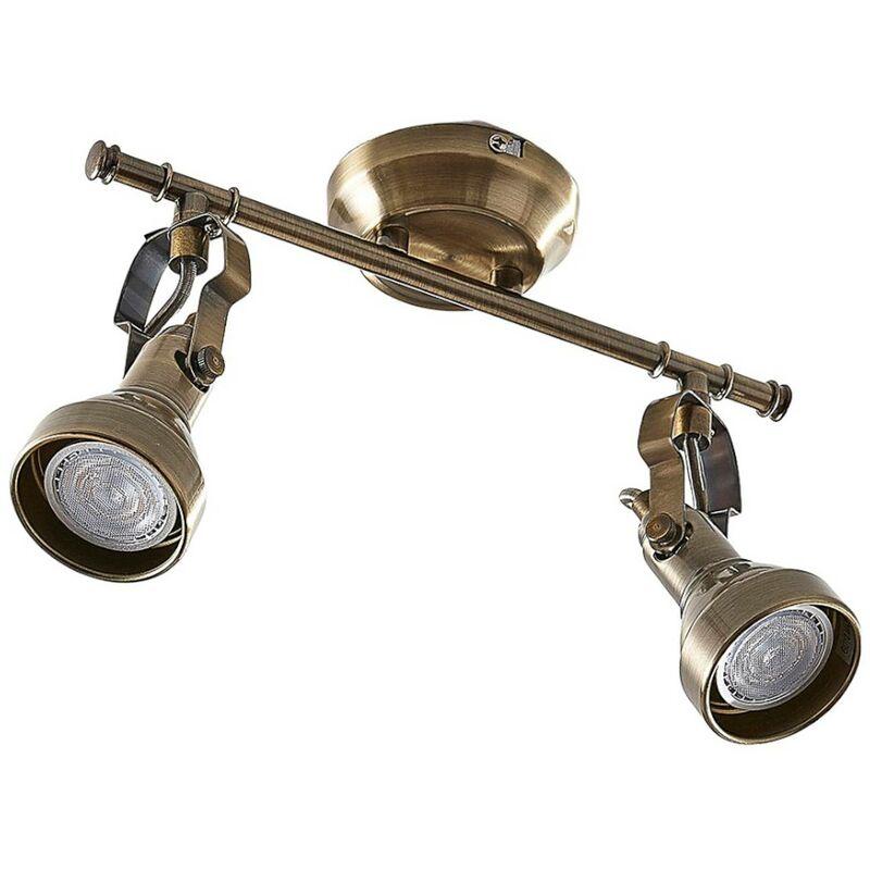 Image of 2-bulb Perseas LED ceiling light, GU10 - LAMPENWELT