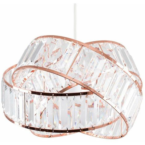 Ceiling Light Shade Easy Fit Copper Intertwined - No Bulb - Copper