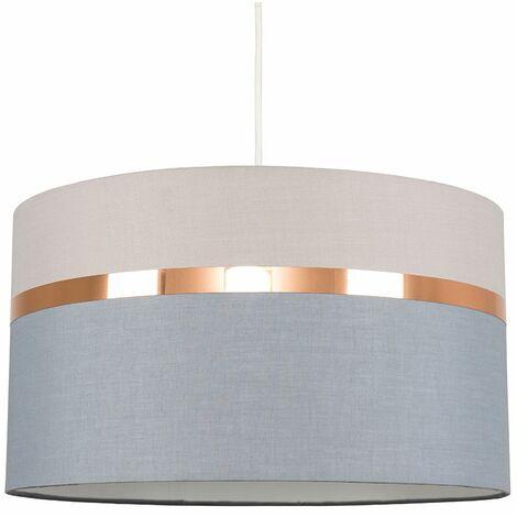 Ceiling Light Shades Copper Chrome Trim - Brown