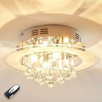 "Ceiling Light ""Varin"" (modern) in Clear made of Glass for e.g. Bedroom (4 light sources, A++) from Lampenwelt"
