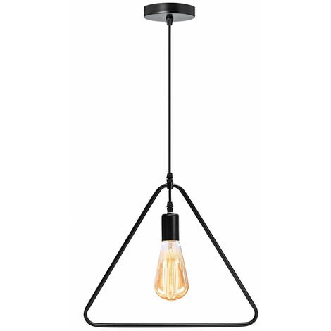 """main image of """"Ceiling Light Wire Lampshade Triangle Holder Pendant Light"""""""