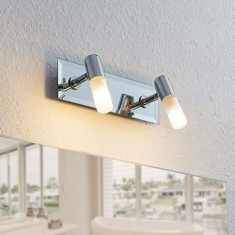 Ceiling Light 'Zela' dimmable (modern) in Silver made of Metal for e.g. Bathroom (2 light sources, G9, A++) from Lindby | floodlight, spotlight