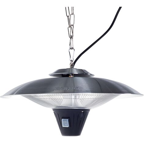 Ceiling Mounted Electric Patio Heater Silver KABA