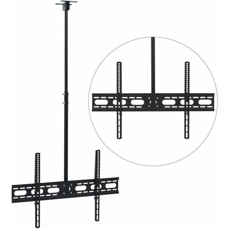 Ceiling Mounted TV Bracket Height Adjustable 37'-70' - Black - Vidaxl