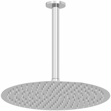 """main image of """"Ceiling Mounted Ultra Thin Chrome Round Rainfall Fixed Shower Arm Head 300mm"""""""