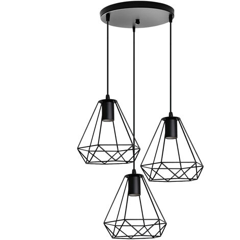 Ceiling Pendant Industrial Lights Fitting Chandelier Lampshade for Home Office Bedroom Living Room Dining Room Coffee Shop