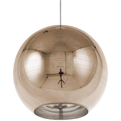 Ceiling Pendant Lamp Light Globe Glam Glass Gold Asaro