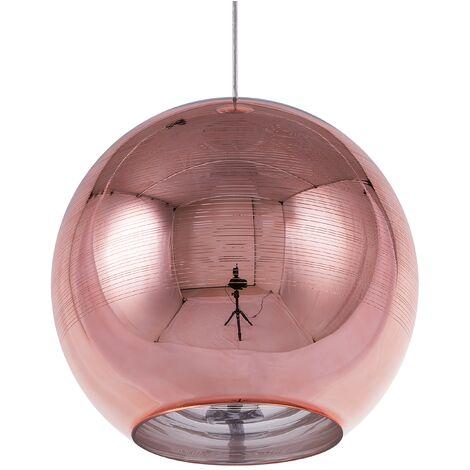 Ceiling Pendant Lamp Light Globe Glass Rose Gold Copper Asaro
