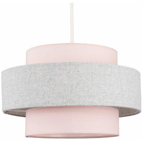 Ceiling Pendant Light Shade - Pink & Grey