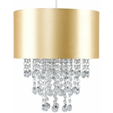 Ceiling Pendant Light Shade with Acrylic Jewel Droplets