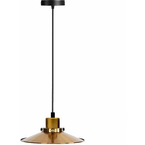 Ceiling Pendant New Modern Gold Flat Lamp Shade
