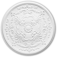 Ceiling Rose 156024 Profhome Ceiling Decoration Medallion Rosette Decorative Element Neo-Empire style white Ø 49.6 cm