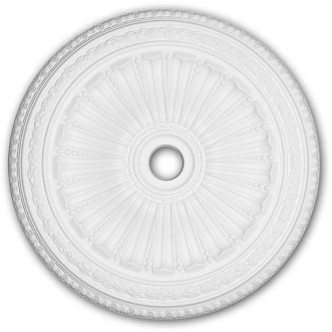 Ceiling Rose 156036 Profhome Ceiling Decoration Medallion Rosette Decorative Element Neo-Renaissance style white Ø 88.7 cm