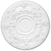 Ceiling Rose 156040 Profhome Ceiling Decoration Medallion Rosette Decorative Element Neo-Empire style white