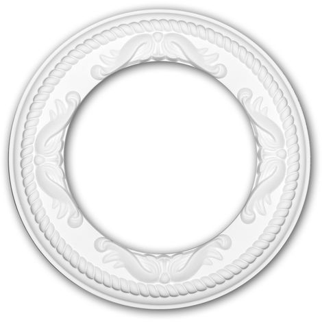 Ceiling Rose 156052 Profhome Ceiling Decoration Medallion Rosette Decorative Element Rococo Baroque style white Ø 31 cm