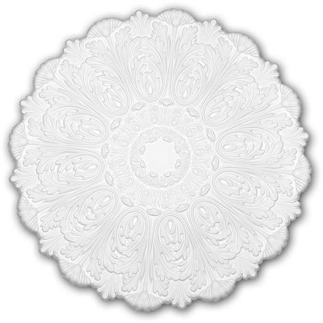 Ceiling Rose 156055 Profhome Ceiling Decoration Medallion Rosette Decorative Element Rococo Baroque style white Ø 75.2 cm
