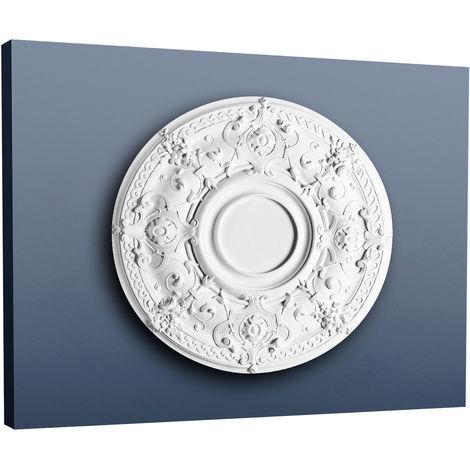 "main image of ""Ceiling Rose Rosette Orac Decor R38 LUXXUS Medallion Centre decor quality classic style white 71 cm = 27 inch diameter"""