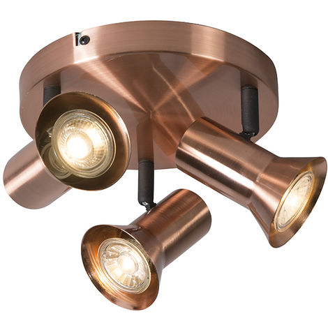 Ceiling spot copper rotatable and tiltable round - Karin 3