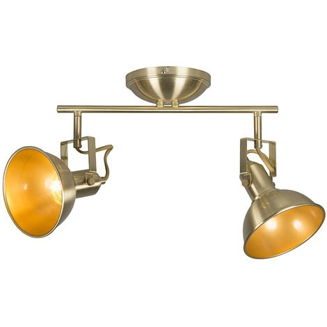 Ceiling spot gold / brass 2-light swivel and tilt - Tommy