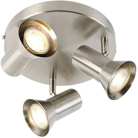 Ceiling spot steel swivel and tiltable round - Karin 3