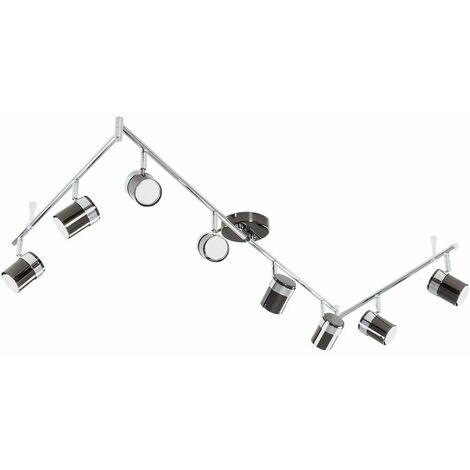 Ceiling Spotlight Bar 8 Way Light Black Copper