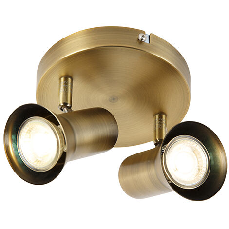 Ceiling spotlight bronze rotatable and tiltable - Karin 2