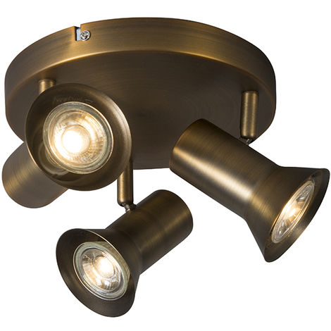 Ceiling spotlight bronze rotatable and tiltable - Karin 3