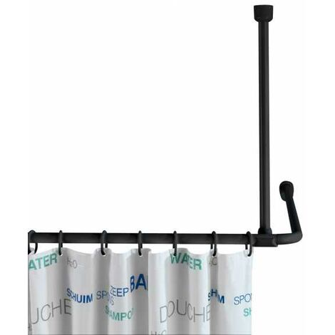 Ceiling support for shower rods black WENKO