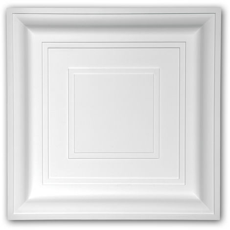 Ceiling tile 157002 Profhome Ceiling Decoration Wall panel contemporary design white