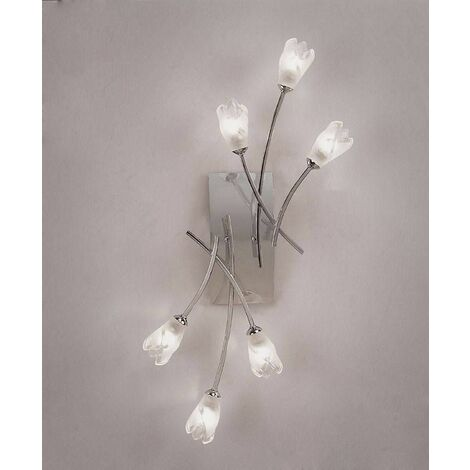 Ceiling / Wall lamp Pietra with switch 6 Bulbs G9, polished chrome