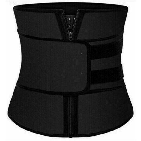 Ceinture abdominale de sudation en néoprène Ceinture de sport réglable Corset fitness sauna,XL