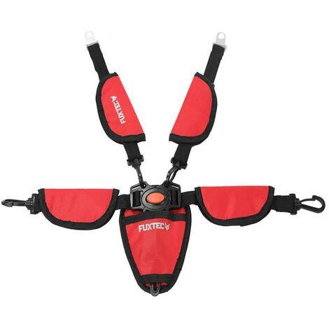 Ceinture de sécurité 5 points FUXTEC pour CT-850 rouge