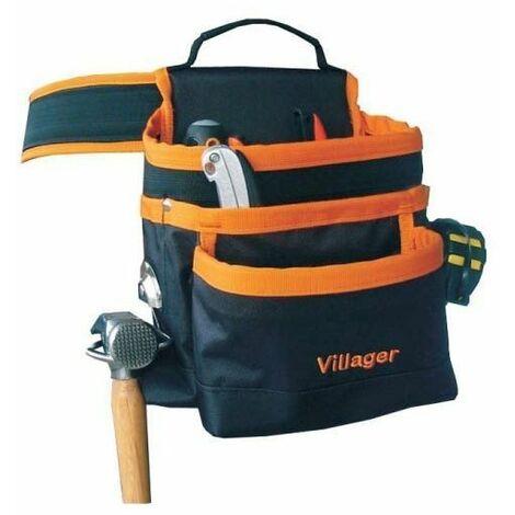 Ceinture porte outils 7 poches et crochet marteau Villager