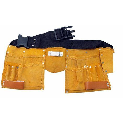 Ceinture porte-outils en cuir 11 poches - Spéciale artisan - 262000 - Beast