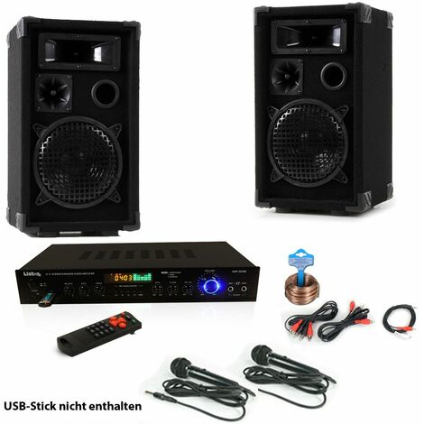 Celebraciones Cajas máquina de karaoke USB SD MP3 receptor Bluetooth de radio control remoto 2x micro DJ-Smart 2