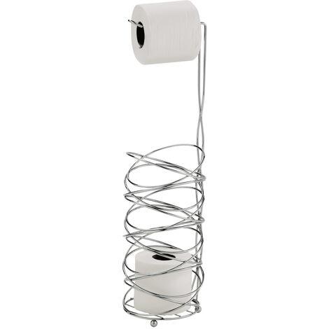 Celeste Wire Toilet Roll & Spare Paper Combo