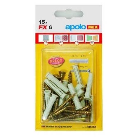 CELO 58FXSZ10 Blister taco de nylon multimaterial de cuádruple expansión con tornillo FX 8 SPS (Envase 10 ud)