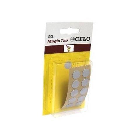 CELO 5ALMT20 Blister Tapón adhesivo MTAP Color Aluminio (Envase 20 ud)