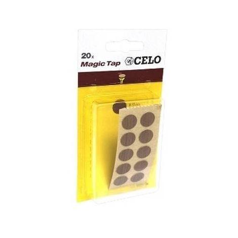 CELO 5NOMT20 Blister Tapón adhesivo MTAP Color Nogal (Envase 20 ud)