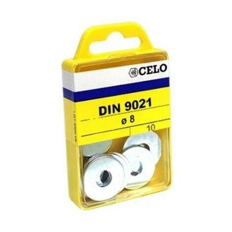 CELO 769021 - rondelle Blisterlarge acier zingué DIN M6 mm (récipient 30 ud) 9021