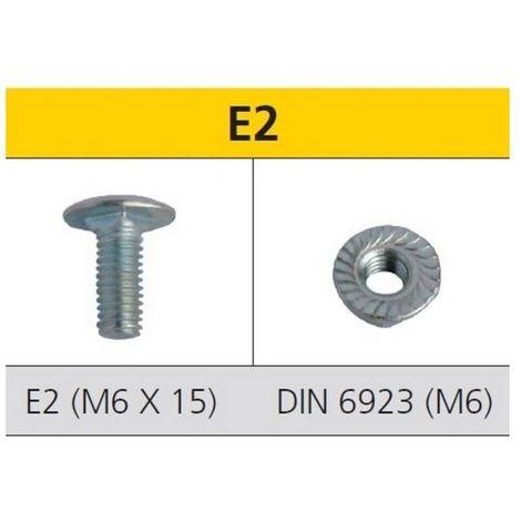 CELO 9E2 Tornillo de estantería E2 y tuerca DIN 6923 para estanterías acero cincado M6x15 mm (Envase 250 ud)