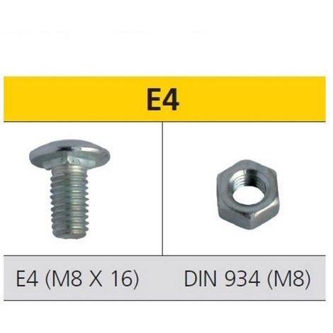 CELO 9E4 Tornillo de estantería E2 y tuerca DIN 934 para estanterías acero cincado M8x16 mm (Envase 250 ud)