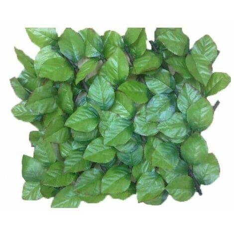 Celosía de hojas de rosa JET7GARDEN 1,00x2,00m - verde suave