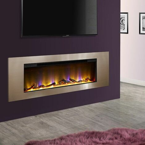 Celsi Electriflame VR Flame Inset Wall Mounted Electric Fire Fireplace Champagne