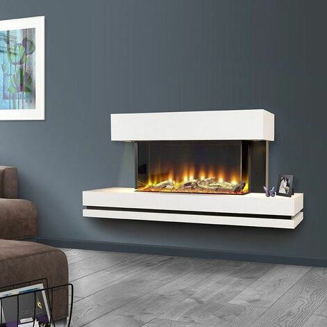 Celsi Electriflame Wall Mounted Elecrtic Fire Fireplace Remote Control LED Glass