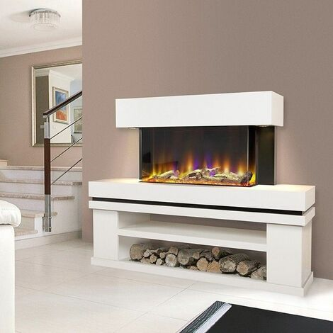 Celsi Freestanding Elecrtic Fire Fireplace Remote Control LED Media Log Store