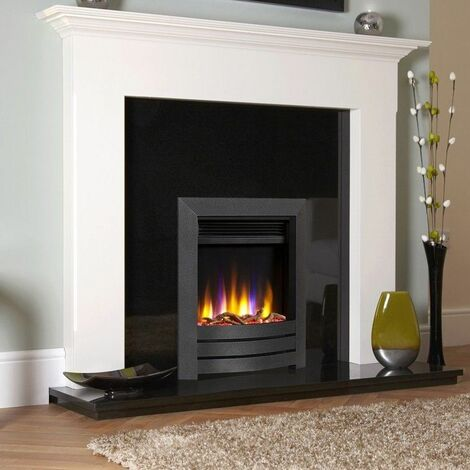 Celsi Ultiflame VR Inset Electric Fire Fireplace Heating Black Eco Timer Flame