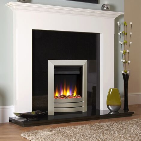 Celsi Ultiflame VR Inset Electric Fire Fireplace Heating Champagne Timer Flame