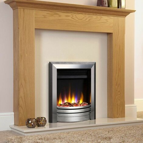 Celsi Ultiflame VR Inset Frontier Electric Fire Fireplace Heating Silver Black