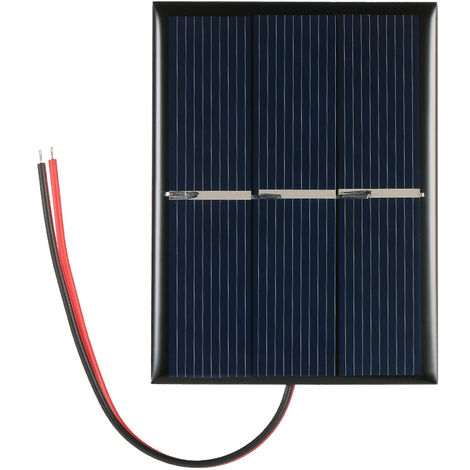 Celula solar del panel solar del silicio policristalino de 0.65W 1.5V , para el cargador de energia de DIY 60 * 80m m